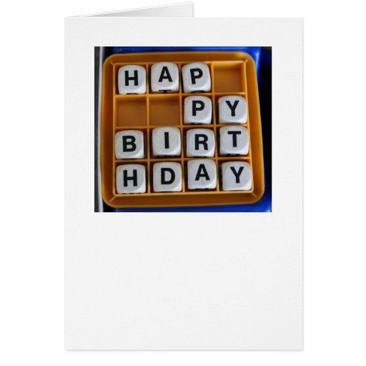 Word Games: Happy Birthday Greeting Card