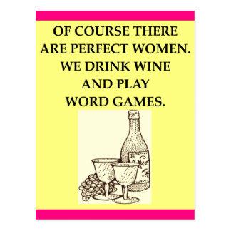 word games postcard