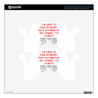 word games PS3 controller decals