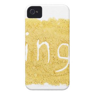 Word Ginger written in spice powder iPhone 4 Case