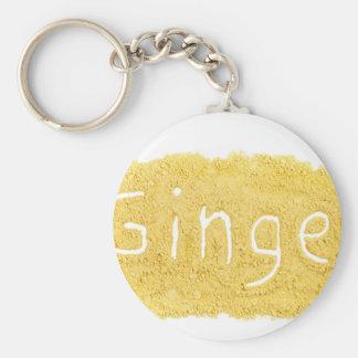 Word Ginger written in spice powder Keychain