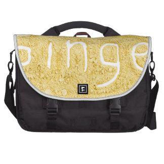 Word Ginger written in spice powder Laptop Messenger Bag