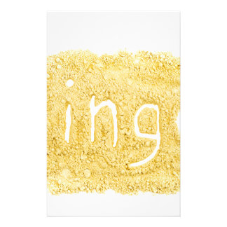 Word Ginger written in spice powder Stationery
