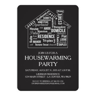 Word House Housewarming Party Card