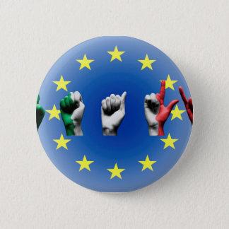 Word Italy over the European Union flag Button