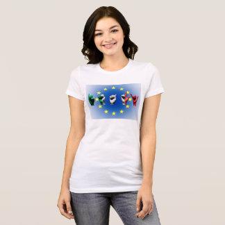 Word Italy over the European Union flag T-Shirt