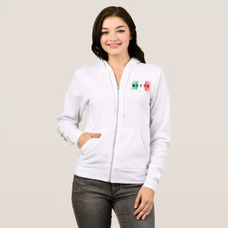 Word Italy over the italian flag Hoodie