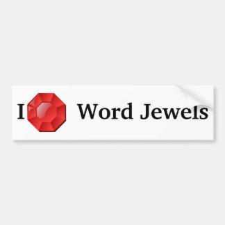Word Jewels Bumper Sticker Car Bumper Sticker