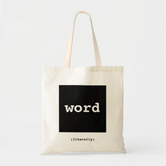 Word.  (Literally) Tote Bag