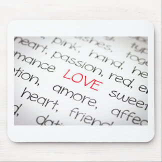 Word love above all mouse pad