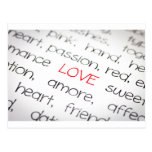 Word love above all postcard