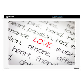 Word love above all laptop skin