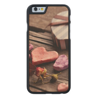 Word Love with Heart Shaped Valentine's Day Gift Carved Maple iPhone 6 Case