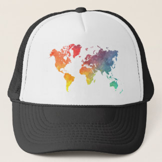 word map 5 trucker hat