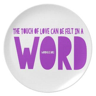 Word Melamine Plate