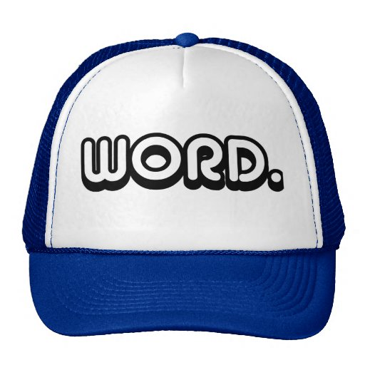 Word Mesh Hat