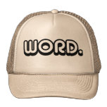Word Mesh Hats