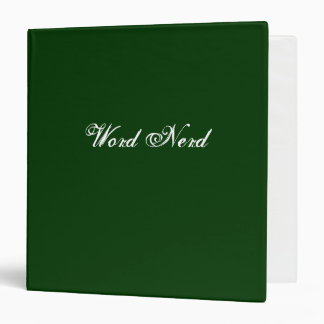 Word Nerd Green Binder