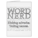 Word Nerd Greeting Card