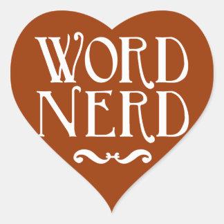 Word Nerd Heart Sticker