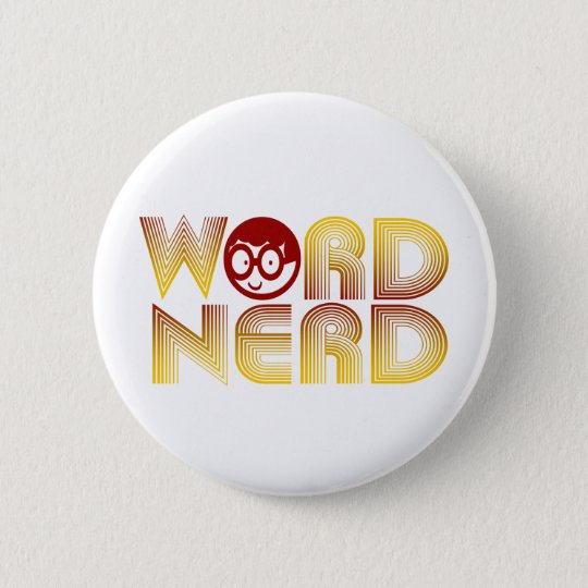 Word Nerd Pinback Button