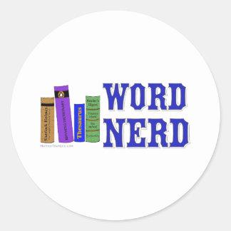 Word Nerd Classic Round Sticker