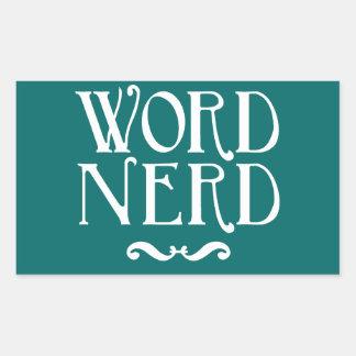 Word Nerd Rectangular Sticker