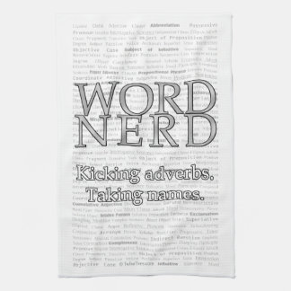 Word Nerd Towel