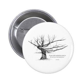 Word Of God Forever: Gnarled Tree in Pencil 2 Inch Round Button