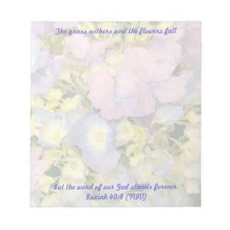 Word of God, Hydrangeas Christian Note Paper
