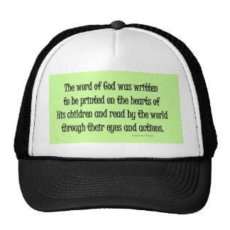 word of God was written Mesh Hat