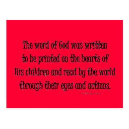 word of God was written Postcard