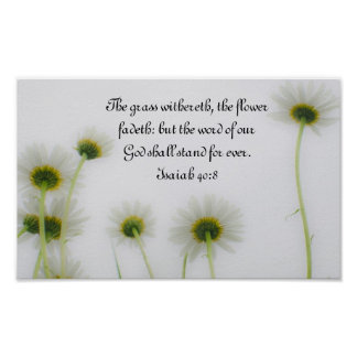 Word of our God bible verse Isaiah 40:8 Poster