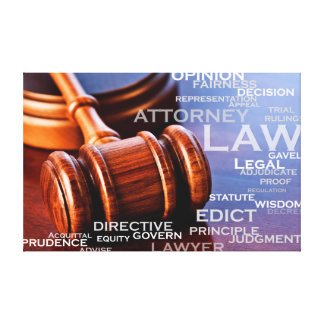 Word of the legal profession canvas print