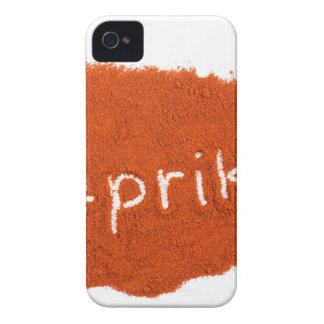 Word paprika written in paprika powder Case-Mate iPhone 4 case