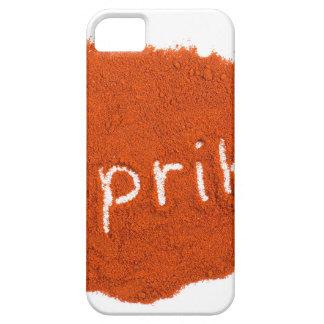 Word paprika written in paprika powder iPhone SE/5/5s case