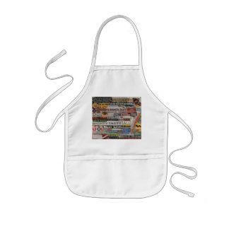 Word phrase clippings from word collage kids' apron