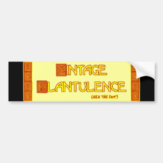 Word Play: Vintage Flatulence Bumper Sticker