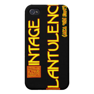 Word Play: Vintage Flatulence iPhone 4 Cover