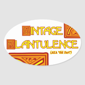 Word Play: Vintage Flatulence Oval Sticker