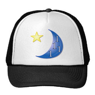 Word Puzzle Ones in a Blue Moon Mesh Hats