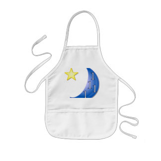 Word Puzzle Ones in a Blue Moon Kids' Apron