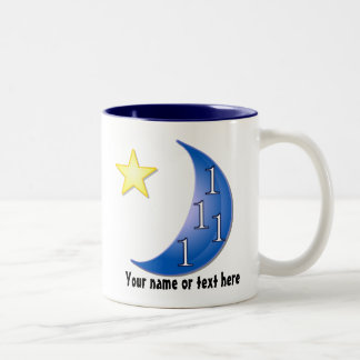 Word Puzzle Ones in a Blue Moon Two-Tone Coffee Mug