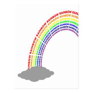 Word Rainbow Postcard