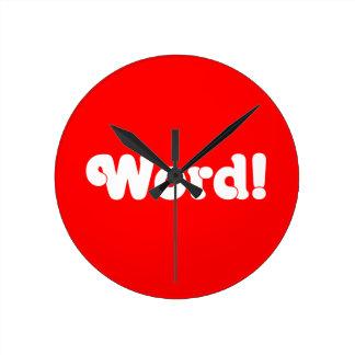 Word! Round Clock