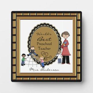 Word s Best Daycare Preschool Teacher Plaque