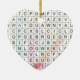 Word Search Ceramic Ornament