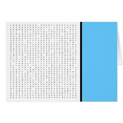 Word Search Puzzle All Purpose Greeting Card 2