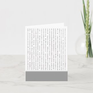 Word Search Puzzle Occasions Card