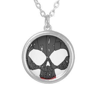 Word Skull Round Pendant Necklace